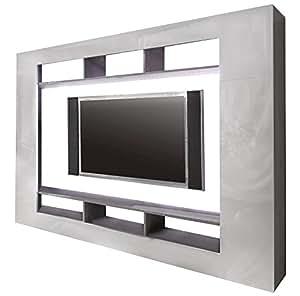 trendteam smart living wohnwand tv m bel wei hochglanz 216 x 160 cm k che haushalt. Black Bedroom Furniture Sets. Home Design Ideas