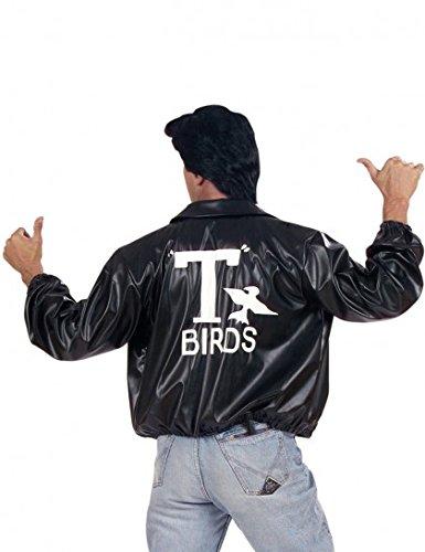 Widmann 4366B - Jacke T-Birds Leder-Look, Größer (Leder Kostüme Jacke)