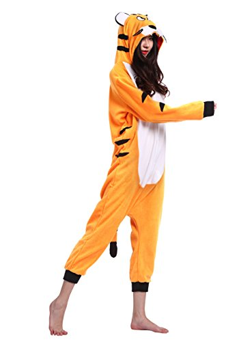Wamvp Pigiama Animali Cosplay Unisex Party Halloween Sleepwear Costume Tuta Tigre