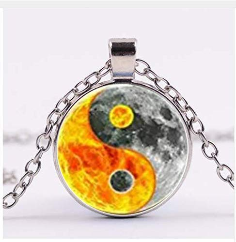 it Tai Chi-Symbol, Yin Yang Bagua Glasanhänger ()