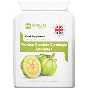 Garcinia Cambogia Whole Fruit 500mg 60 Kapseln – UK Hergestellt nach GMP Garantierte Qualität – Geeignet für Vegetarier und Veganer von Prowise Healthcare