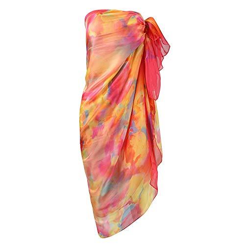 UK_Stone Damen Paisley Blumen Schmetterling Sarong Pareo Strandtuch Wickelrock Wickeltuch Bikini Sonnenschutz Decke Cover-up