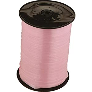 Amscan CR1002 - Cinta decorativa para globos (500 m x 5mm), color rosa