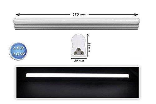 Vetrineinrete Sottopensile led plafoniera neon tubo 30 40 50 60 90 120 cm luce naturale 4000k reglette per soffitto mensole ripiani (60cm 10w) B16