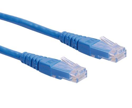 ROLINE UTP LAN Kabel Cat 6 | Ethernet Netzwerkkabel mit RJ45 Stecker | blau 10 m