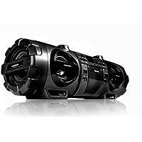 Blaupunkt Boom Box BBL 1000–Reproductor de CD, reproducción de MP3, conexión USB, Bluetooth, entrada auxiliar, radio FM/FM PLL, entrada de micrófono y guitarras–Ghetto Blaster Incluye mando a distancia y correa en negro