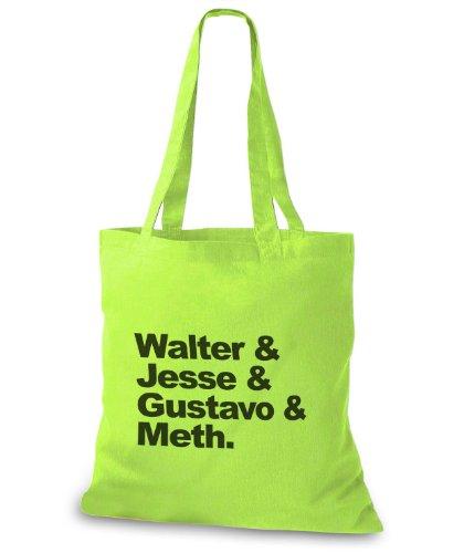 StyloBags Jutebeutel / Tasche Walter & Jesse & Gustavo & Meth Lime