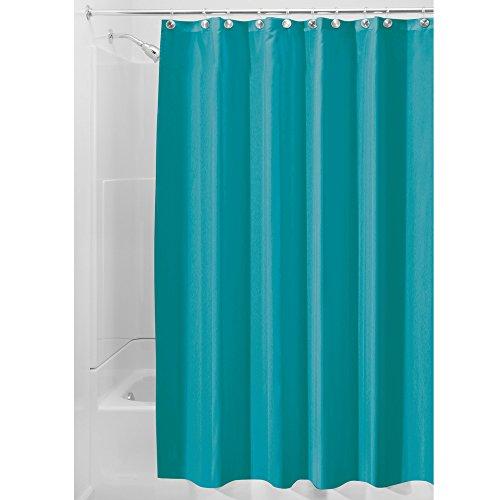 iDesign 14651EU Spakresistenter Wasserabweisender Duschvorhang, 183 x 0,254 x 183 cm, türkis, Polyester