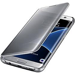 Samsung Clear View Etui pour Samsung Galaxy S7 Edge Argent