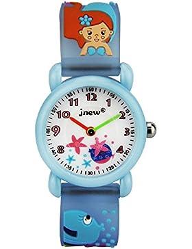 Niedlich Kreativ Karikatur Spielzeuguhr 3D Muster Meerjungfrau Seestern Arabische Ziffern Skalieren Armbanduhren...