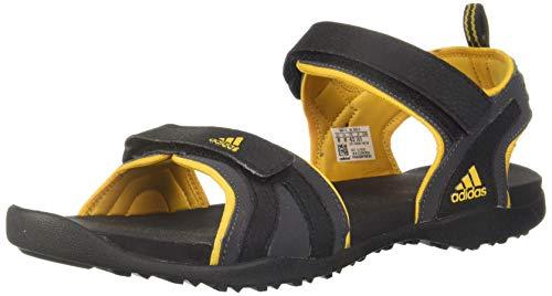 Adidas Men's HFR25 CBlack/Actgol Outdoor sandals-10 UK (44 EU) (CL9916)