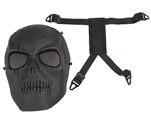 SaySure - Skull Skeleton Airsoft Paintball BB Gun Full Face