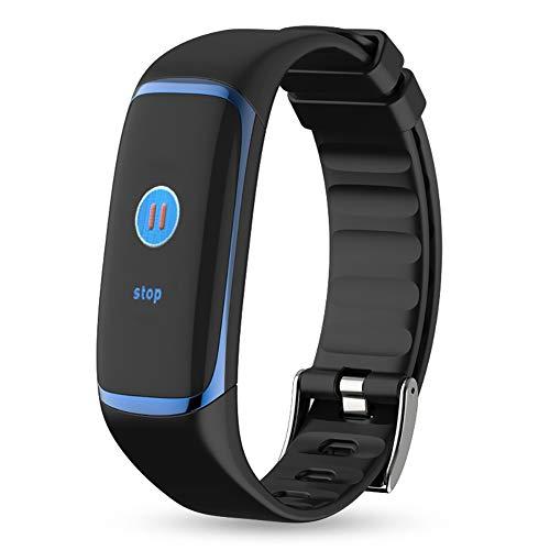 HECHEN P9 Fitness Armband Pulsmesser Wasserdicht IP67 Smart Armbänder Blutsauerstoff Schrittzähler Kalorienzähler Fitness-Tracker Für iPhone Android Handy 12 Funktionen,Blue