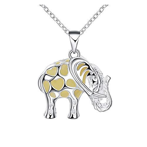 Creative Hollow Elephant, Colgante Natural Azul Verde, Vintage Necklace-Aqua Large Star, Joyería...