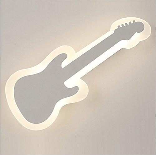 YU-K Chambre Simple Vintage wall lamp creative living salle à manger chambre lumières lumières allée lampe murale à LED lampe de chevet chambre enfant guitare acrylique wall lamp, 400mm * 160mm * 55mm