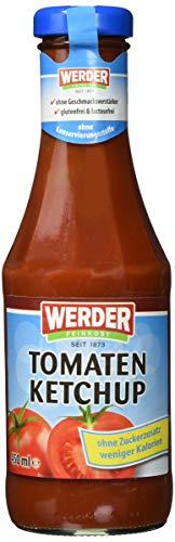 """Werder Ketchup,Tomaten Ketchup \""""Ohne Zuckerzusatz\"""" 450 ml 6er Pack (6 x 450 ml)"""