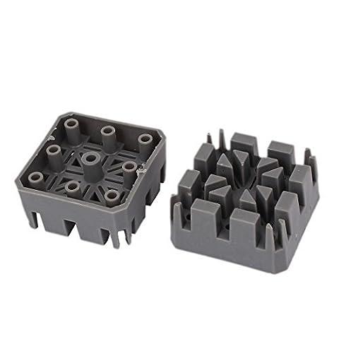 DealMux quadratische Form Kreuz-line-Uhrenarmband-Bügel-Halter-Link-Pin-Remover-Reparatur-Werkzeug