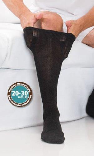 core-spun Therafirm Damen Hosen Support Socken-15-20mmHg Mild Kompression Kleid Socken (weiß XL) -