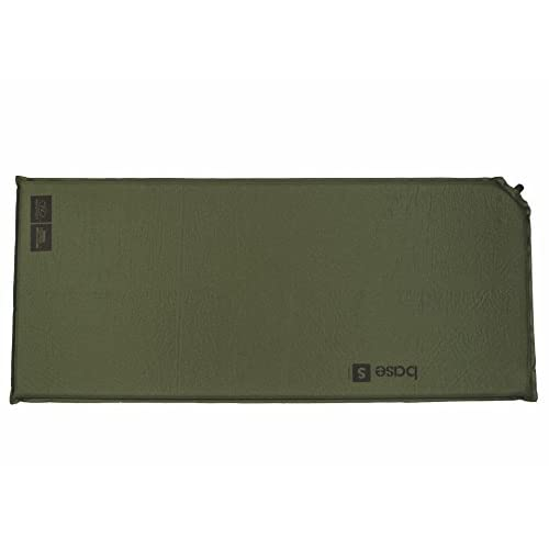 41HqEPC7MWL. SS500  - Highlander Army Military Self Inflating Air Bed Camping Mattress Foam Sleeping Mat Roll Green
