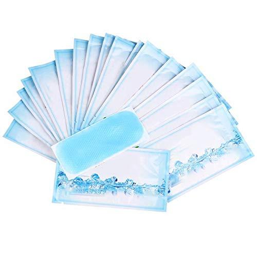 Funwill 15 pcs Fever Cooling Gel Patch, Fieber Reduzierstück für Fieber Migräne Stirn Kälte Kühlung Aufkleber Kopfschmerzen Patches Stirn Sofortige Kühlung Relief für Baby Erwachsene