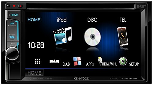 Kenwood DDX5016DAB 15,7 cm Doppel-DIN-VGA-Monitor mit Bluetooth-Modul und Digitalradio schwarz -