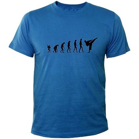 Mister Merchandise T-Shirt Karate Evolution - Uomo Maglietta S-XXL - Molti Colori