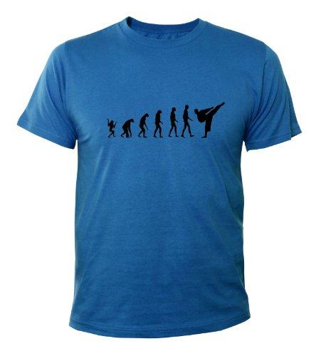 Mister Merchandise T-Shirt Karate Evolution - Uomo Maglietta S-XXL -