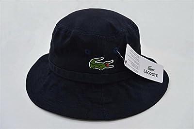 Unisex LACOSTE Sports Fans Kappe Bucket Hat (schwarz)