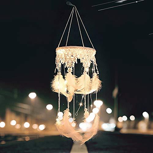 SDLZ9ky - Lámpara de Techo Colgante de Encaje con diseño de atrapasueños
