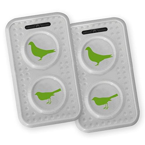 ISOTRONIC mobiler Tauben/Vogelschreck mit Ultraschall mit ON-Off-Schalter für Scheune, Garten, Auto und Garage, besonders hohe Töne, Wechselfrequenz gegen Gewöhnungseffekt, batteriebetrieben (2) - Ton Garten