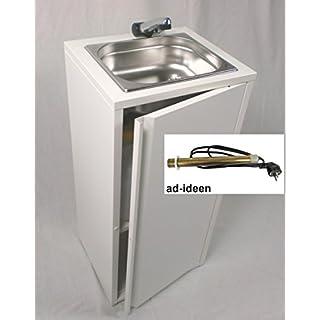 Mobiles Handwaschbecken Waschbecken Verkaufsstand +Papierrollenhalter + Heizstab (ad-ideen)