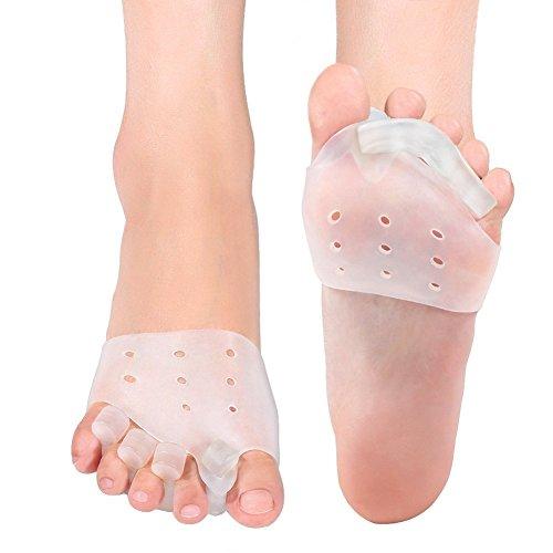 Doact tutore alluce valgo gel toe separatori e toe spreader per alluce valgo trattamento per dito a martello, sollievo per il dolore del piede