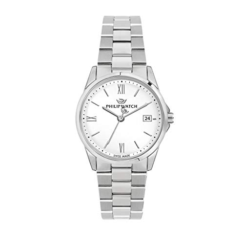 Philip Watch Women's Watch, Capetown Collection, Quartz Movement and Three Hands Version with Date, Equipped with a Stainless Steel Bracelet - R8253212505