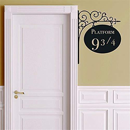 (Wandtattoo Kinderzimmer Wandtattoo Wohnzimmer Plattform 9 3/4 Harry Potter Tür-Dekor-Aufkleber für Kinderzimmer Design)