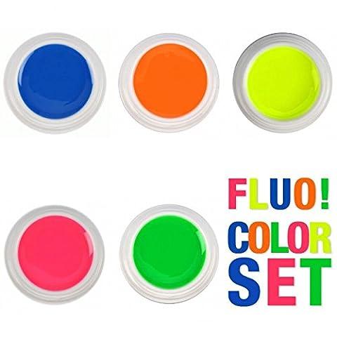 Kit 5Gel Color fluo–Couleurs Été–BSN Professional
