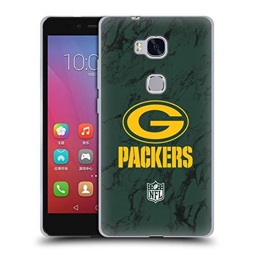 Head Case Designs Offizielle NFL Marmor Farbig 2018/19 Green Bay Packers Soft Gel Hülle für Huawei Honor 5X / GR5 19 X Bay