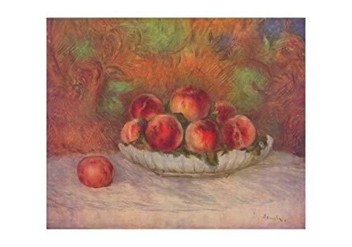 Pierre Auguste Renoir Still Life (Pierre Auguste Renoir - Still Life Peaches - Extra Large - Archival Matte - Framed)