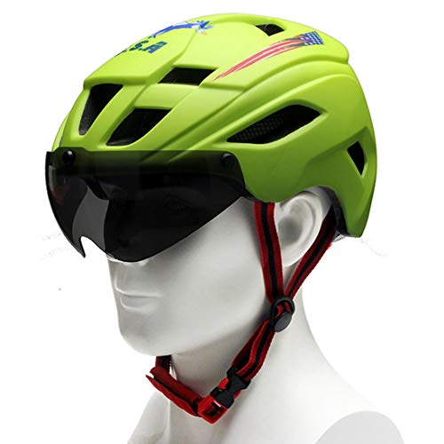 OLEEKA Fahrradhelm Rennrad Radfahren einstellbare Helm, Männer Frauen Ultralight einstellbare Teenager Helm, Schwarz Blau Grün Rot (Giant Frauen Rennrad)