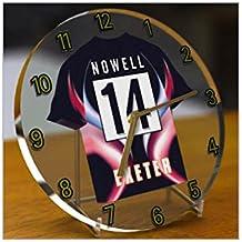 Aviva Premiership–Rugby Union Club Jersey relojes de escritorio–cualquier nombre, cualquier número, cualquier equipo–personalización gratuita., hombre mujer Infantil, Exeter Chiefs Rugby