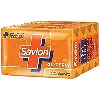 Savlon Glycerine Soap, 125g (Buy 3 Get 1 Free)