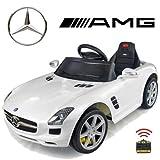Original Mercedes-Benz SLS 6.3 AMG License - Coche con Motor y Batería de Coches para Niños con Control Remoto (blanco)