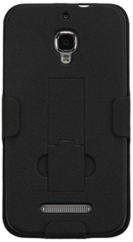 MYBAT Hybrid Ständer für Alcatel 7024W One Touch Fierce, gummiert, Schwarz (Telefon-abdeckung Touch Alcatel Für One)
