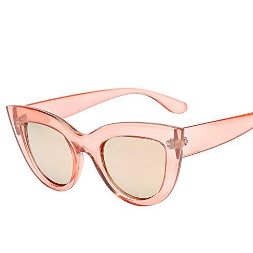 SuperSU Damen Mode Sonnenbrille Vintage Clout Goggles Unisex Sunglasses Nachtsichtbrille Eyewear Damenbrillen Herrenbrillen Persönlichkeit Retro Stil Oval Grunge Glasses (D)