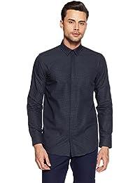Jack & Jones Men's Printed Slim Fit Cotton Casual Shirt