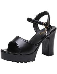 Leey Classic Espadrilles Heel Made Sandali con Zeppa Donna Eleganti  Spiaggia Casuale Colore Caramella Dolce Sandals Shoes Estivi… 4f46d0501a2