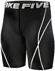 022 Short de compression pour course à pied pour homme