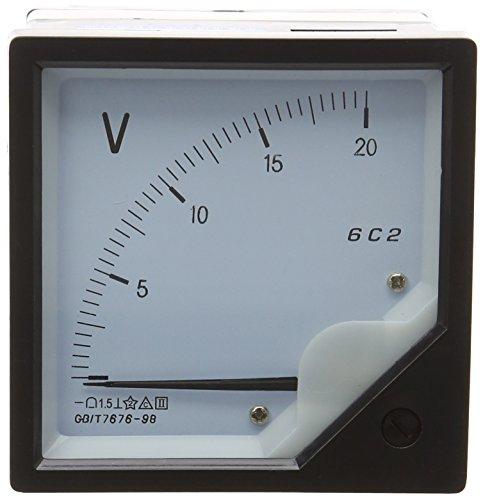 Quadratisch Panel Montage beweglichen Wetterfahne 0-20V DC Analog Voltmeter 80mmx80mm