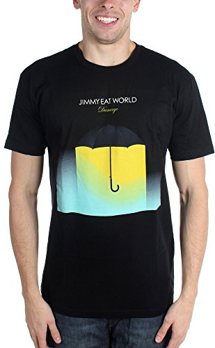 Jimmy Eat World-Ombrello danni-Maglietta da uomo Nero  nero
