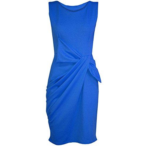 Pure Fashion Damen Kleid Königsblau - Clubbing Clubwear Abendessen