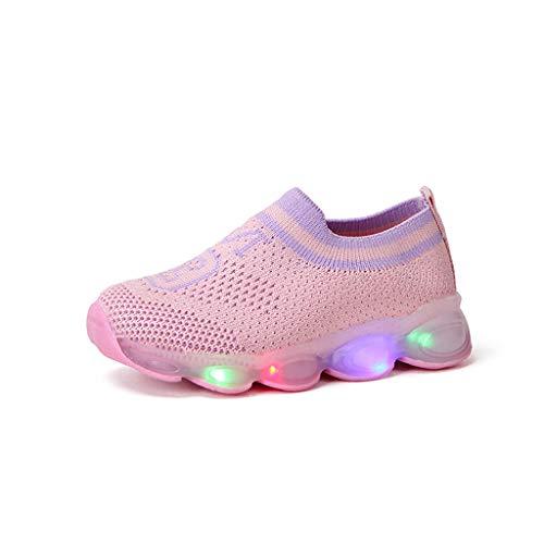 Heligen_Baby Shoes Abstand Unisex-Kinder LED Sneakers Mode Blinkschuhe Low-Top Casual Outdoor Sneakers Laufschuhe Sportschuhe Hallenschuhe für Jungen und Mädchen Größe 21-30 (Boys Kleinkind Sneakers Größe 6)